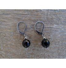 Ónix fazettált ásvány fülbevaló 8 mm