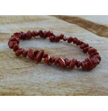 Vörös Jáspis gömbölyített ásvány karkötő