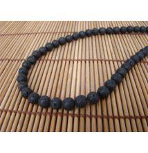 Lávakő ásvány nyaklánc 10 mm