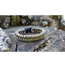 Paracord Fishtail karkötő - Erdő terep