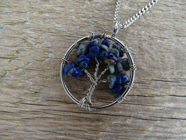 Lápisz Lazuli életfa ásvány medál
