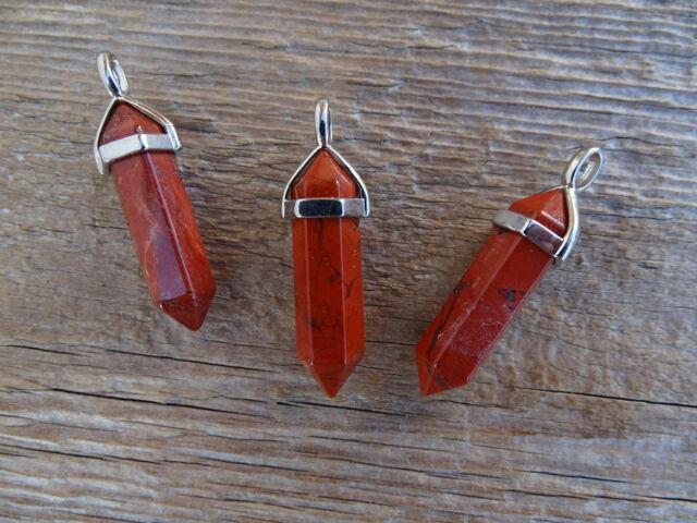 Vörös Jáspis inga ásvány medál