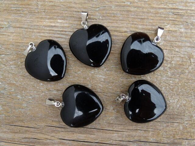 Ónix szív ásvány medál