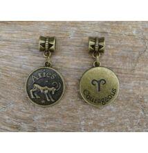 Kos csillagjegy antik bronz fűzhető medál