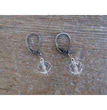 Hegyikristály fazettált ásvány fülbevaló 8 mm