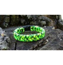 Paracord Fishtail karkötő - Zöld neon terep
