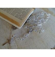 Hegyikristály ásvány rózsafüzér