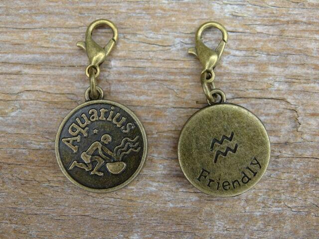 Vízöntő csillagjegy antik bronz kapcsolható medál