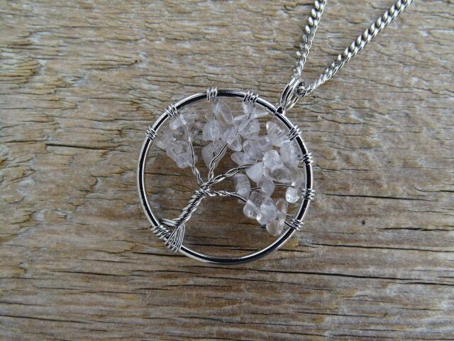 Hegyikristály életfa ásvány medál