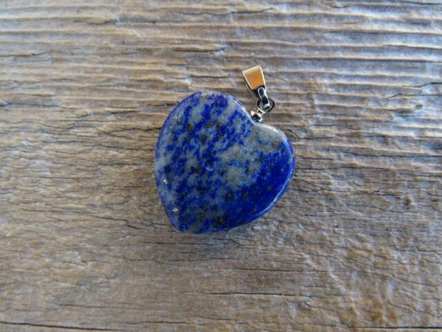 Lápisz Lazuli (Lazurit) szív ásvány medál