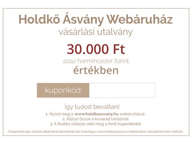 Vásárlási utalvány 30.000 Ft értékben